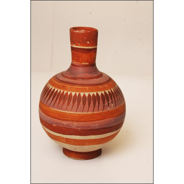 Vintage Native American Brown Art Pottery Vase - Image 6 of 11