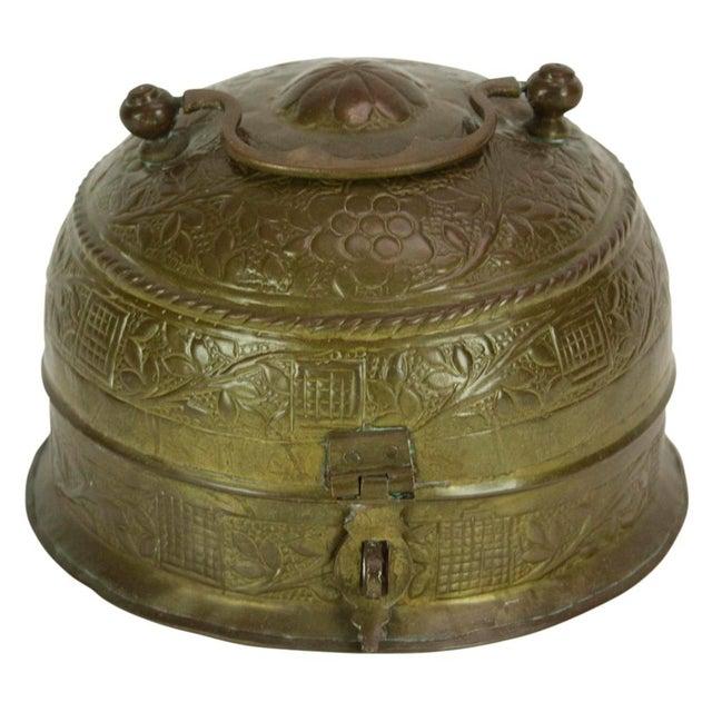 Primitive Brass Pandan Box For Sale - Image 3 of 5