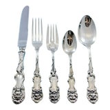 Image of Lion by Frank Smith Sterling Silver Flatware Set Service 25 Pieces For Sale