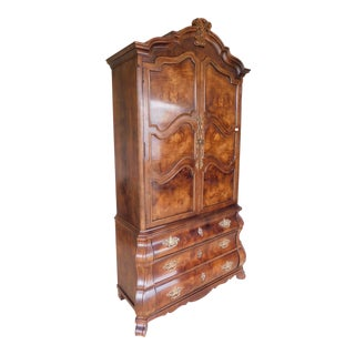Henredon Villandry Collection French Bombe Style Armoire Chest For Sale
