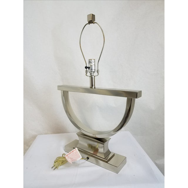 Chrome Modern U-Shaped Lamps - A Pair - Image 5 of 5