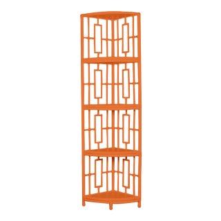 Trinity Corner Etagere - Orange For Sale