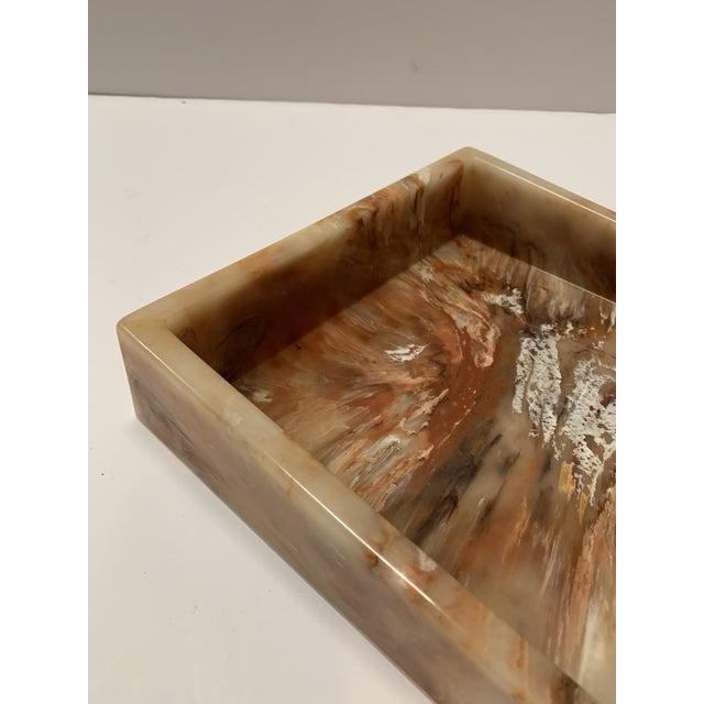 Faux Onyx Resin Desk Inbox Paper Holder For Sale - Image 12 of 13