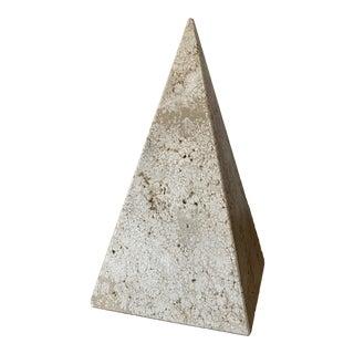 I. Magnin Travertine Obelisk For Sale