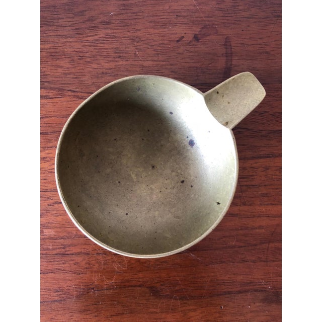 Mid-Century Modern A Carl Aubock Brass Ashtray Ca' 1950's For Sale - Image 3 of 8