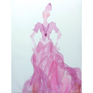 """Pink Lady 1"" Watercolor Painting"