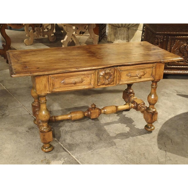 17th Century Basque Country Writing Table With Inset Star For Sale - Image 13 of 13