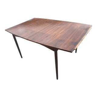 1960s Mid Century Modern Walnut Dining Table For Sale