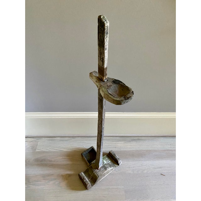 Antique Oil Lamp Stand For Sale - Image 10 of 11