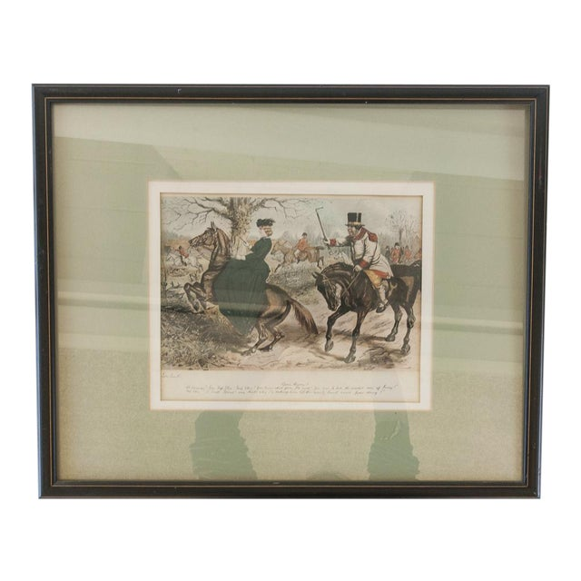 'Gone Away' Fox Hunting Etching - Image 1 of 6