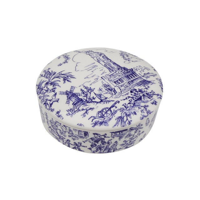 Tiffany & Co. Blue & White Lidded Trinket Bowl - Image 7 of 7