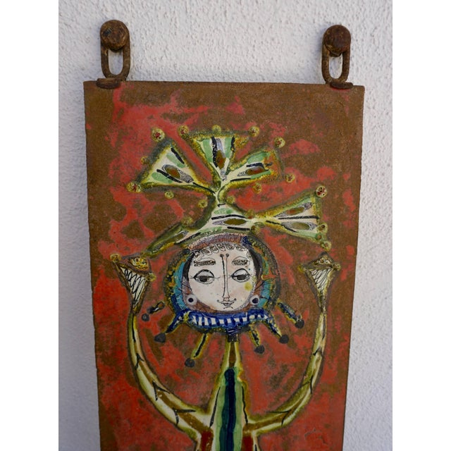 1960s Whimsical Ceramic Tile by Bruno Capacci For Sale - Image 5 of 7