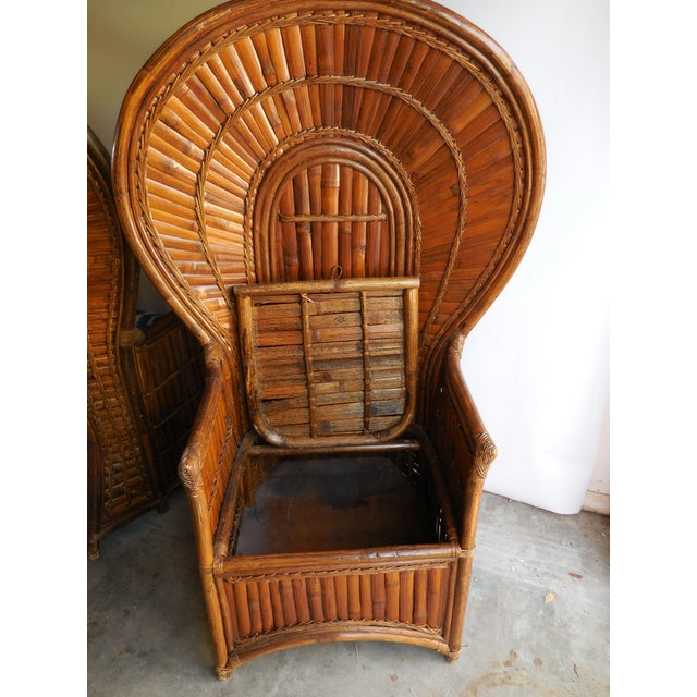 Vintage Bamboo Peacock Chairs - A Pair - Image 8 of 8