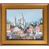 Image of Charles Cobelle - View of Paris 18 Framed Acrylic on Canvas For Sale
