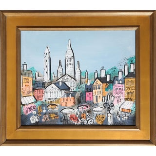 Charles Cobelle - View of Paris 18 Framed Acrylic on Canvas For Sale