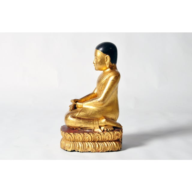 Giltwood Buddhist Apostles- A Pair For Sale In Chicago - Image 6 of 11