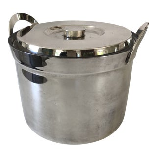 Mid-Century Silverplate Ice Bucket For Sale