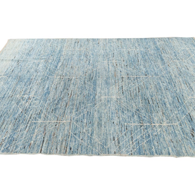 """21st Century Modern Moroccan-Style Rug, 7'0"""" X 10'0"""" For Sale In New York - Image 6 of 11"""