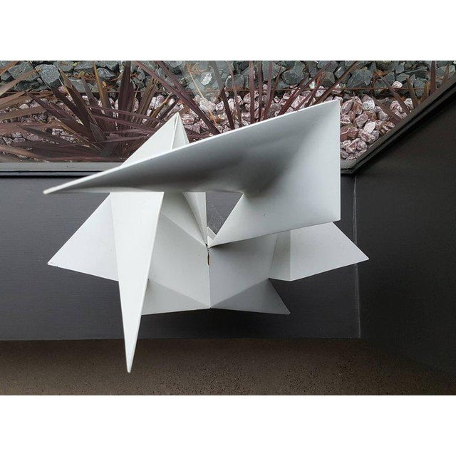 White Vintage Abstract Origami Sculpture by Artist Edward D Hart For Sale - Image 8 of 11
