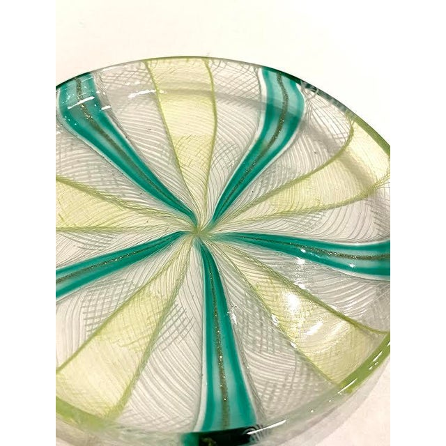 Mid 20th Century Vintage Murano Art Glass Dish For Sale - Image 5 of 6