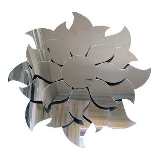 Modern Flower Sunburst Mirror For Sale