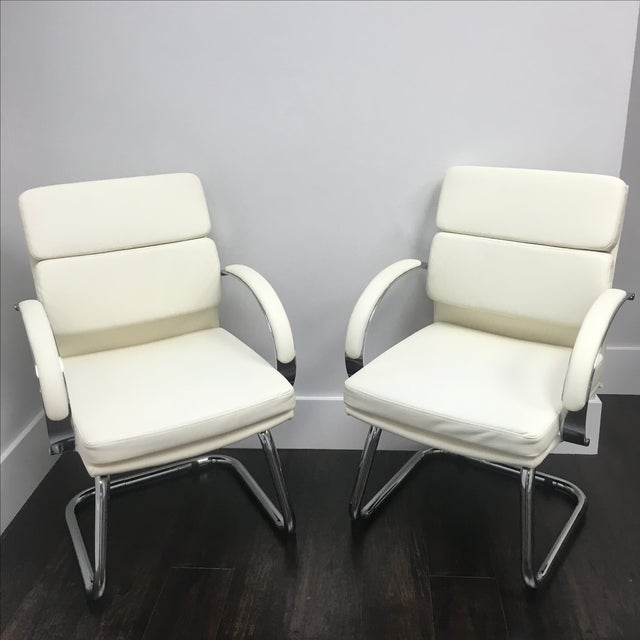 Modern Office Chairs in Vanilla - Set of 10 - Image 6 of 6