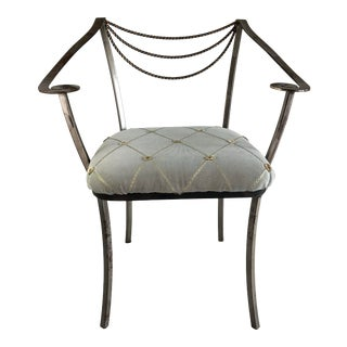 Vintage Hollywood Regency Accent Chair For Sale