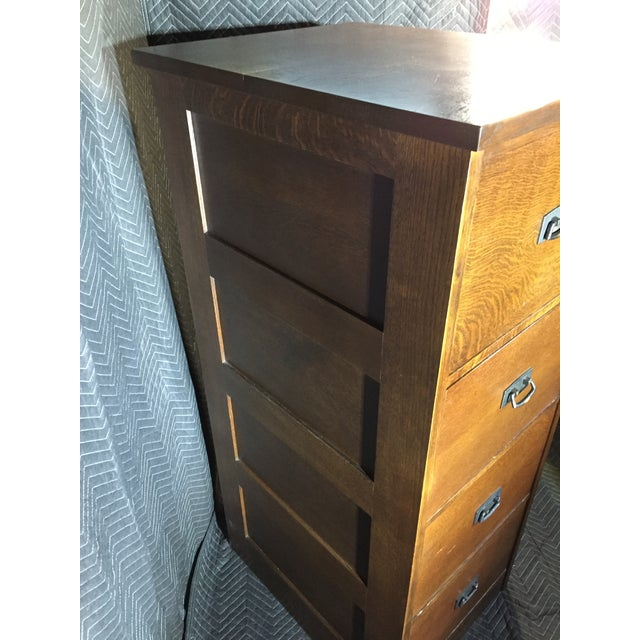 Stickley Mission Collection Oak Four Drawer File Unit For Sale In Richmond - Image 6 of 7