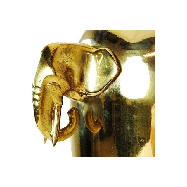 Mid-Century Brass Elephant Table Lamp - Image 2 of 5
