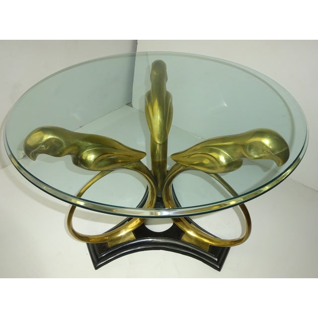 Art Deco Revival Brass Parrot Table For Sale - Image 4 of 8