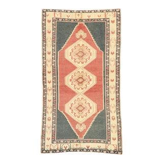 Vintage Turkish Oushak Rug, 04'01 X 07'04 For Sale