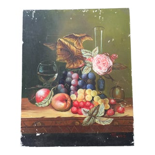 1950s Vintage French Still Life Painting For Sale