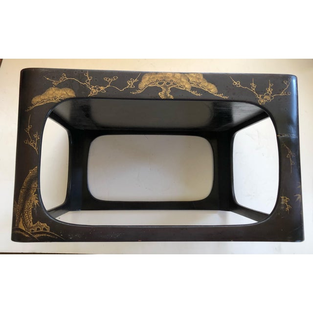 Japanese Lacquered Nesting Tables For Sale - Image 4 of 11