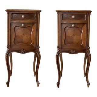 19th Century French Louis XV Carved Nightstands - a Pair For Sale