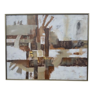 Lee Reynolds 1970s Abstract Painting For Sale