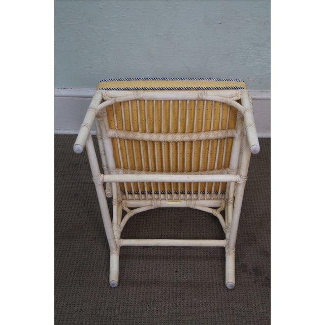 McGuire Chinese Chippendale Style Rattan Arm Chair - Image 9 of 10