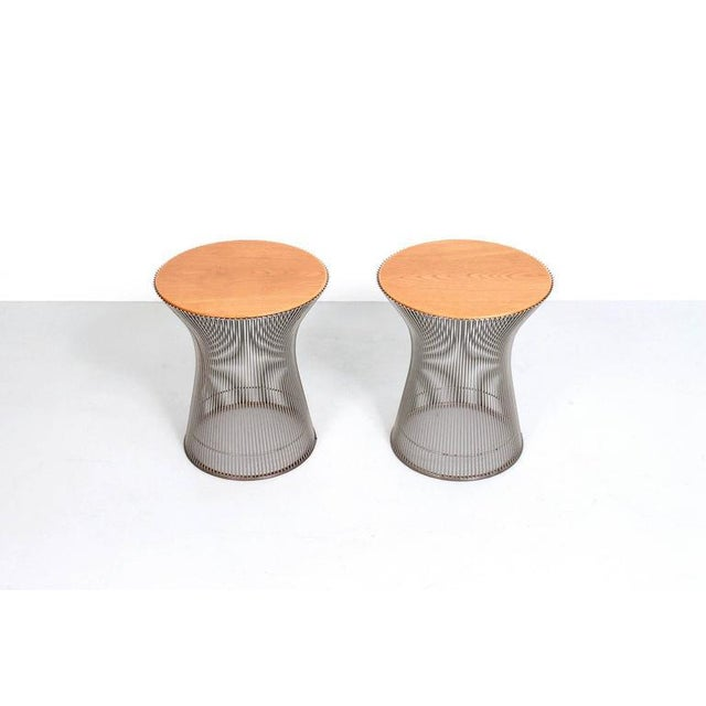 Mid-Century Modern Pair of Side Tables by Warren Platner for Knoll For Sale - Image 3 of 11