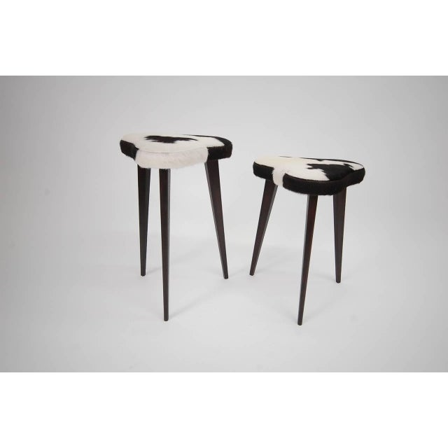Pair of Small Nesting Stools From France For Sale - Image 4 of 7