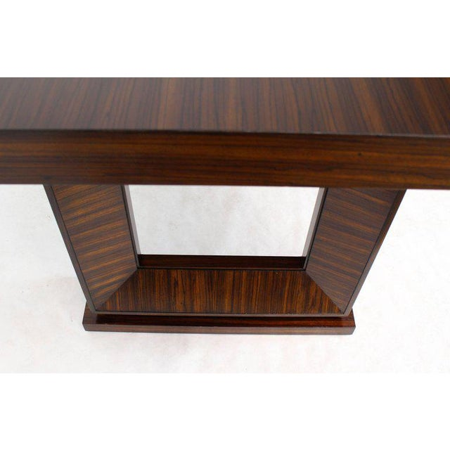 One drawer rosewood recessed frame leg work writing table desk.