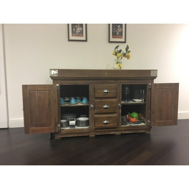 Brown Williams Sonoma French Farmhouse Kitchen Island For Sale - Image 8 of 9