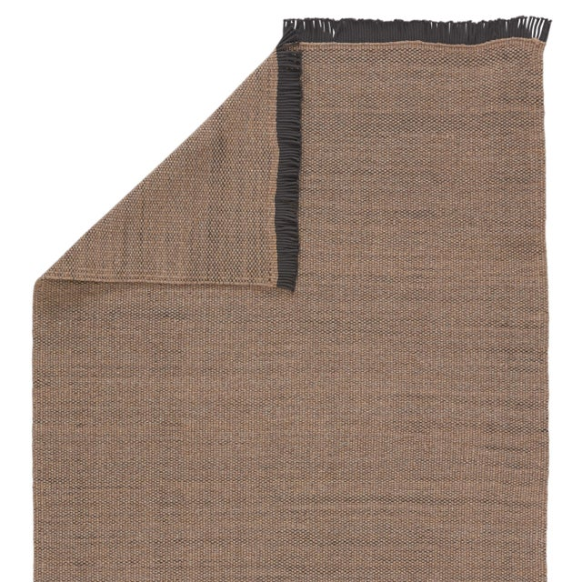 Contemporary Jaipur Living Savvy Indoor Outdoor Solid Tan Black Area Rug 5'X8' For Sale - Image 3 of 6