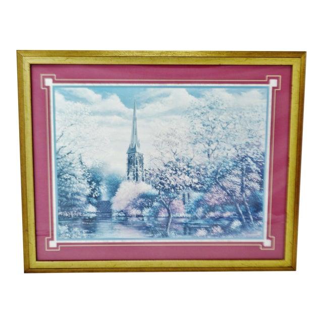 Image of Vintage Framed Sambataro Church Steeple Print