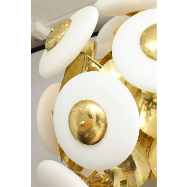 Italian Sculptural Italian Modern Brass and Glass Sputnik Chandelier With 45 Arms For Sale - Image 3 of 6