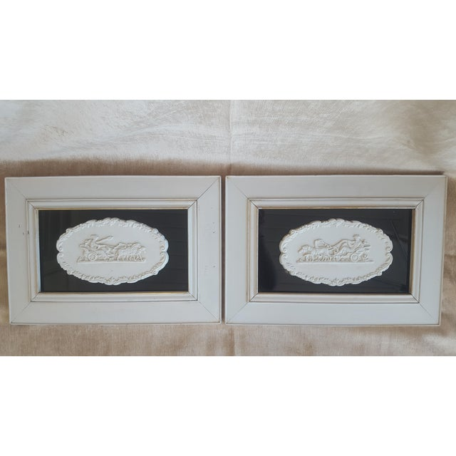 Vintage Neoclassical Framed Intaglios - a Pair For Sale - Image 13 of 13