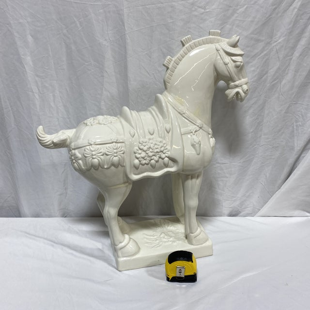 Large Vintage Ceramic Tang Dynasty Horse For Sale - Image 11 of 12