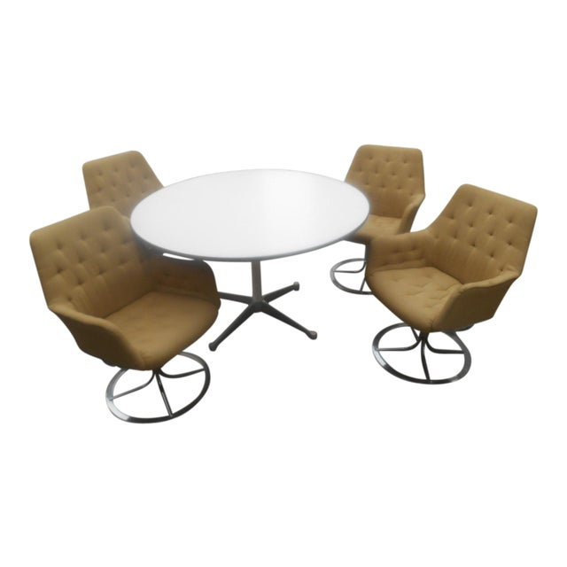 Bruno Mathsson for Dux Chairs & Herman Miller Table For Sale