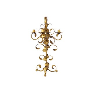 1950s Italian Gilt Candelabra For Sale
