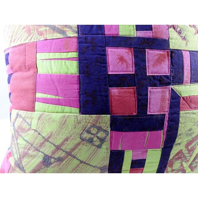 Vintage Textile Quilt Pillow For Sale In San Antonio - Image 6 of 7