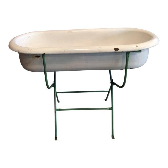Vintage White Baby Bathtub For Sale