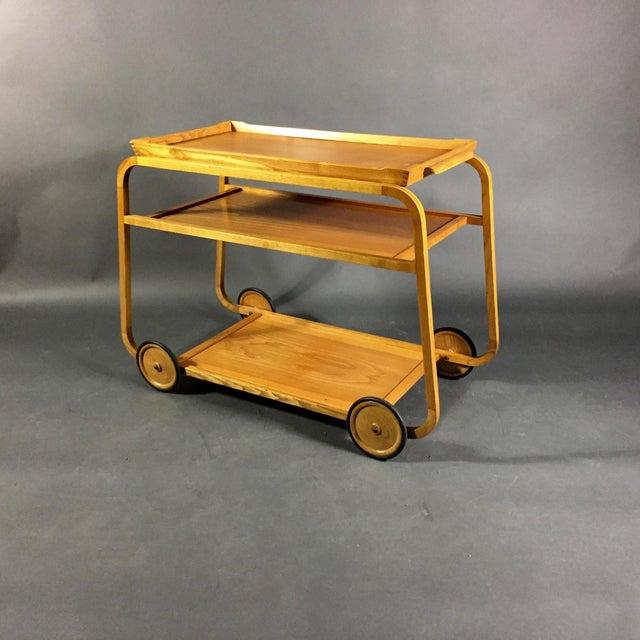 1940s Birch Bar Cart by Reimers Möbler , Mjölby Sweden For Sale - Image 9 of 9